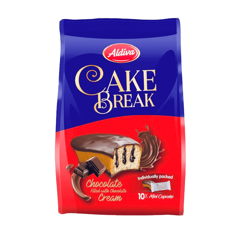 Cake Break Chocolate Cream & Covered Cup Cake (18 gr * 10 ) MultiBag